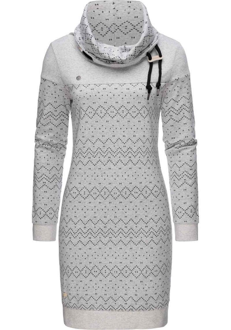 Ragwear Sweatkleid »Chloe Dress« stylisches Langarmkleid mit Ethnomuster