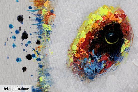 KUNSTLOFT Gemälde »Glücklicher Riese«  handgemaltes Bild auf Leinwand