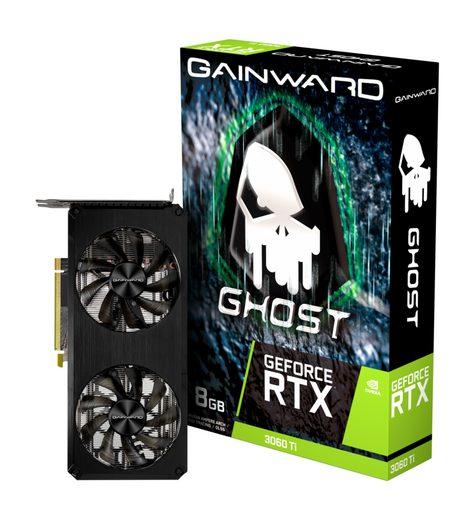 Gainward RTX 3060 Ti Ghost Grafikkarte (8 GB, GDDR6, Dual Fan)