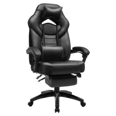 SONGMICS Chefsessel »OBG77BG OBG77BU OBG77BR OBG077B01«, Gaming Stuhl, Bürostuhl, Schreibtischstuhl, höhenverstellbar mit Fußstützen