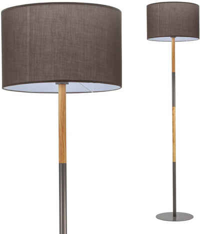 Pauleen Stehlampe »Grand Purity«, Stoffschirm Grau