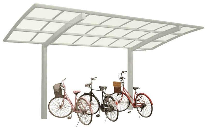 Ximax Einzelcarport »Portoforte Mini Typ 60 Sonderlänge-Edelstahl-Look«, 240 cm Einfahrtshöhe, Aluminium
