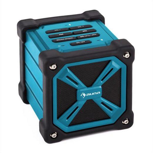 Auna TRK-861 Bluetooth-Lautsprecher mobil Akku Outdoor blau Portable-Lautsprecher