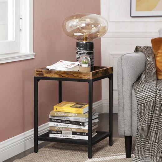 VASAGLE Nachttisch »LET36BX«, Beistelltisch, Nachttisch, stabil, vintage
