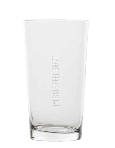 "Räder Design Glas »WASSERGLAS ""HYDRATE FEEL GREAT""«"