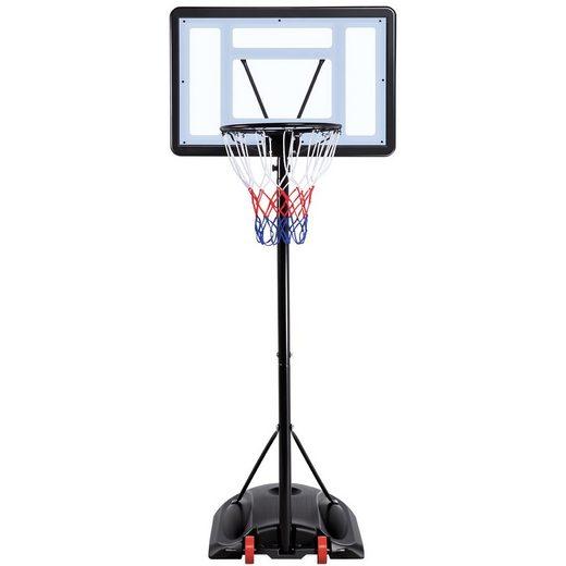 Yaheetech Basketballständer, Basketballkorb mit Rollen Basketballanlage Standfuß mit Wasser Sand Höheverstellbar 217 bis 279 cm