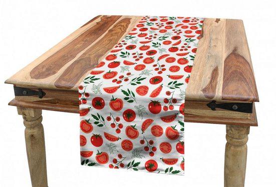Abakuhaus Tischläufer »Esszimmer Küche Rechteckiger Dekorativer Tischläufer«, Essen Vegetarian Lifestyle Tomaten