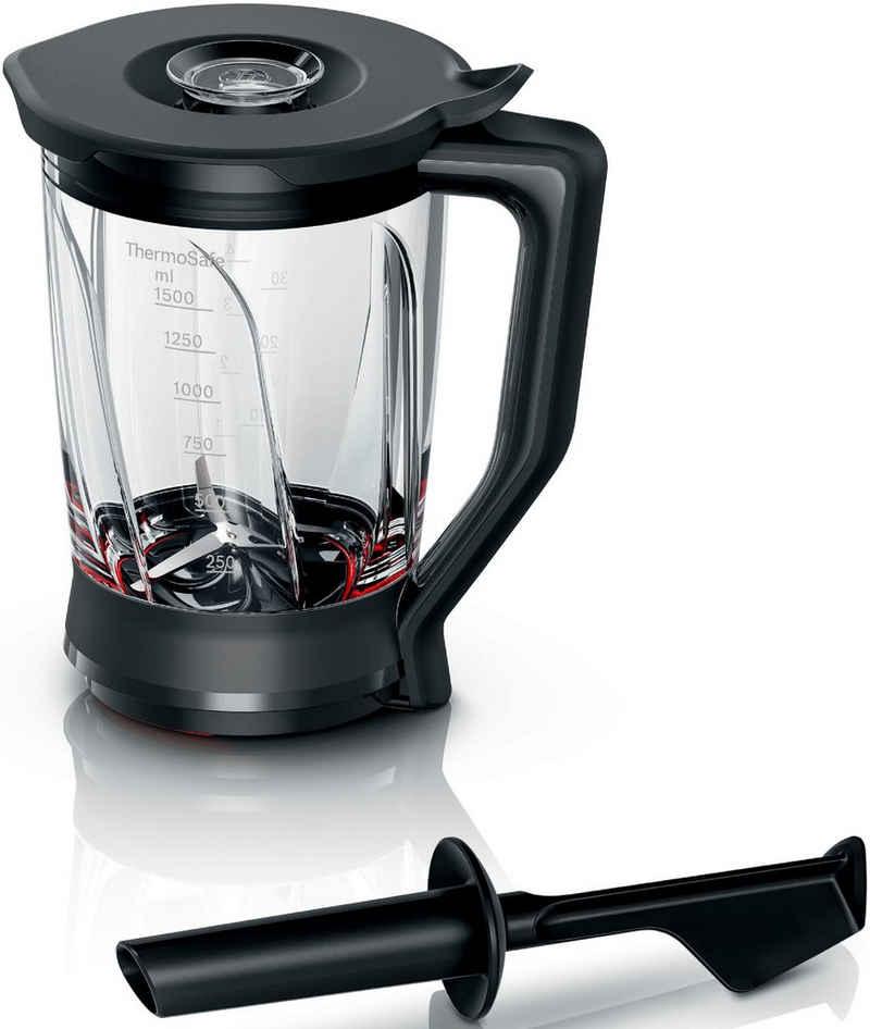 BOSCH Mixaufsatz MUZ9MX2, Zubehör für VitaPower Series 2+VitaPower Series 4 Standmixer, aus Glas, geeignet für Bosch Küchenmaschinen MUM9….