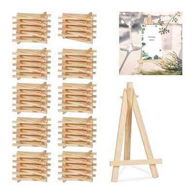 relaxdays Mini Staffelei »100 x Staffelei klein aus Holz«