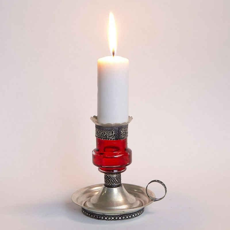 Casa Moro Kerzenständer »Marokkanischer Kerzenhalter Aladin aus Metall & Glas, Romantisches Kerzenlicht, Tisch Dekoration Feier, Kerzenleuchter aus Marrakesch«