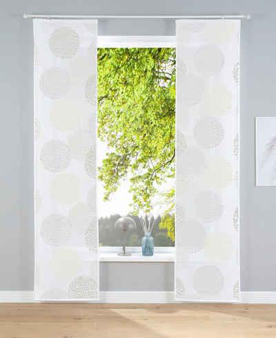 Schiebegardine »Belem«, my home, Klettschiene (2 Stück), Fertiggardine, inkl. Befestigungszubehör, transparent