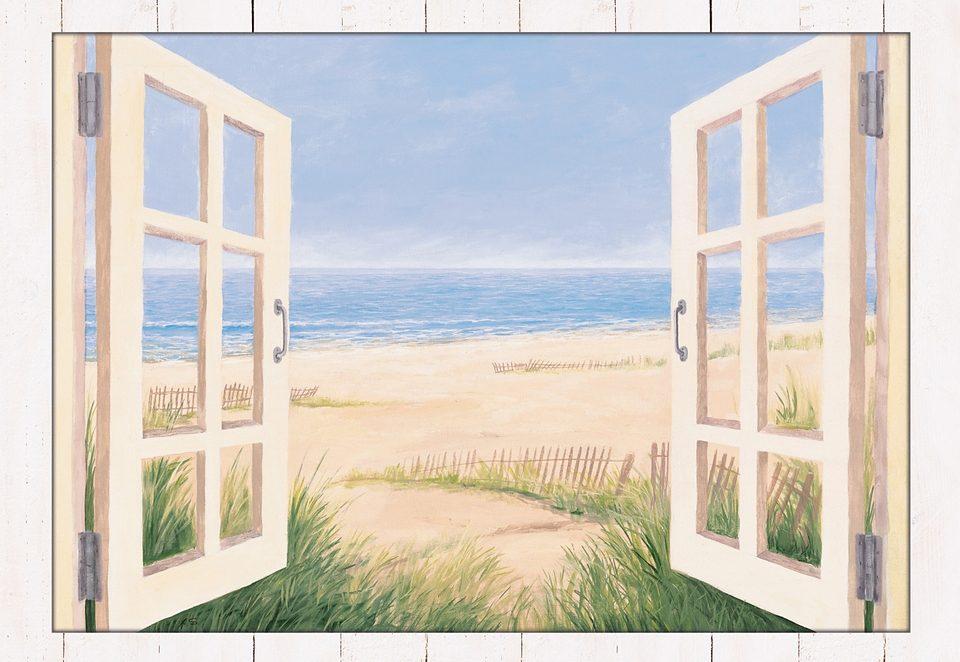 Home affaire, Wandbild mit Designer-Rahmen, »Spring Day Morning«, 112,4/82,4 cm