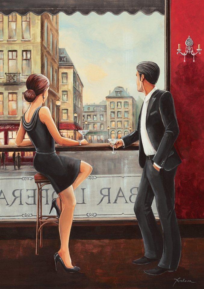 Home affaire, Leinwandbild, »Bar«, 60/80 cm in rot