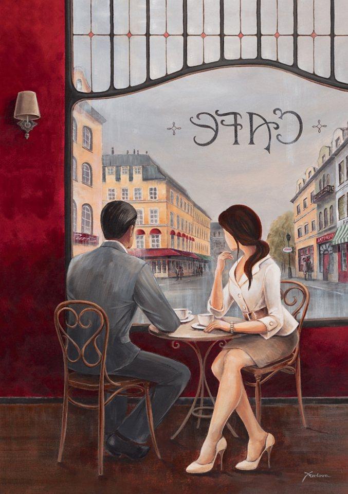 Home affaire Wandbild auf Leinwand »Café«, Größe: 60 x 80 cm in rot