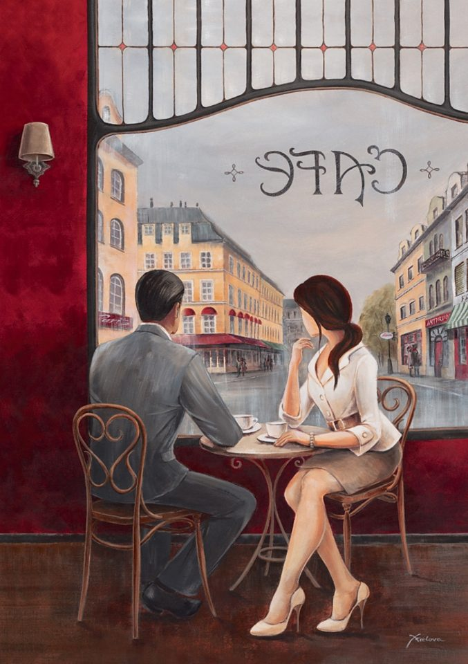 Home affaire, Leinwandbild, »Café«, 60/80 cm