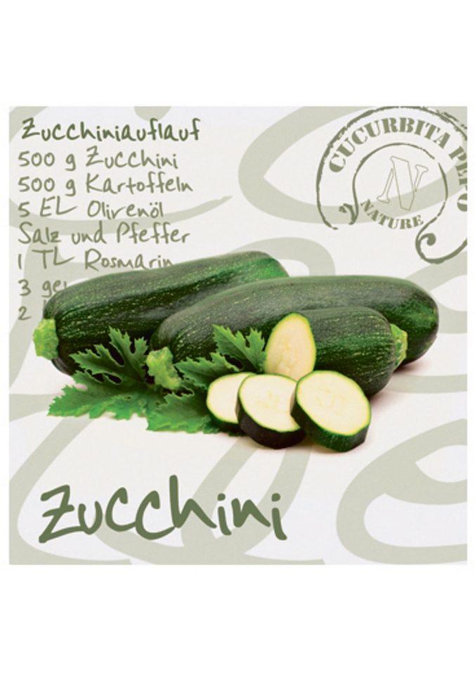 Home affaire Glasbild »Zucchini«, Größe: 30/30 cm