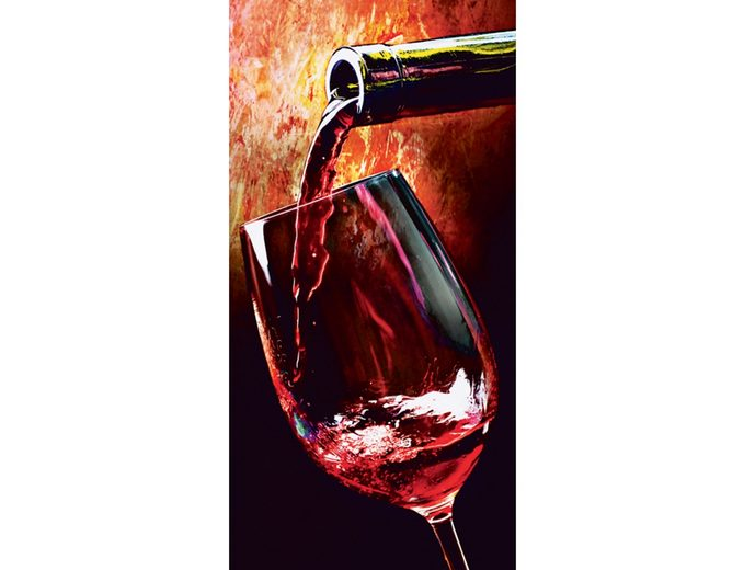 Home affaire Glasbild »Wine«, Größe: 30 x 60 cm