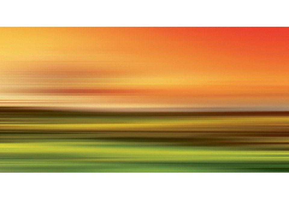 Home affaire Glasbild »Abstract strokes I« in orange