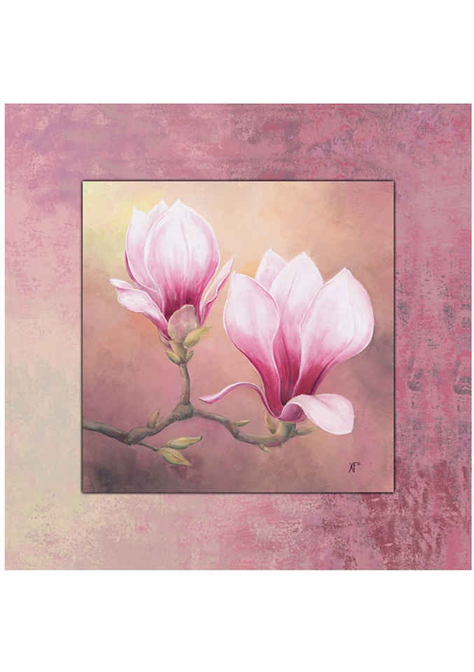 Home affaire Wandbild »Late Magnolia«, 50,4/50,4 cm, gerahmt