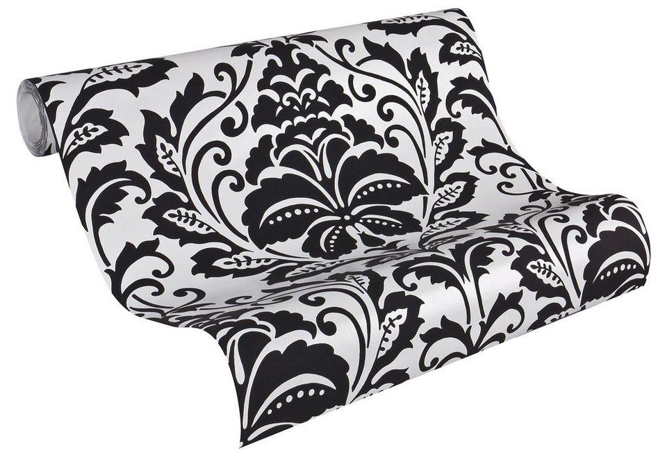 vliestapete livingwalls mustertapete flock otto. Black Bedroom Furniture Sets. Home Design Ideas