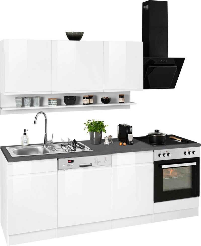 HELD MÖBEL Küchenzeile »Virginia«, ohne E-Geräte, Breite 220 cm