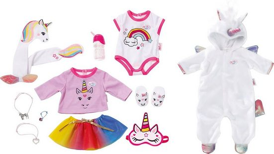 Zapf Creation® Puppenkleidung »Exklusiv BABY born® Great Value Set Unicorn«