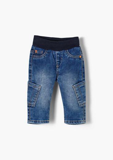 s.Oliver 5-Pocket-Jeans »Jeans mit Umschlagbund« Waschung