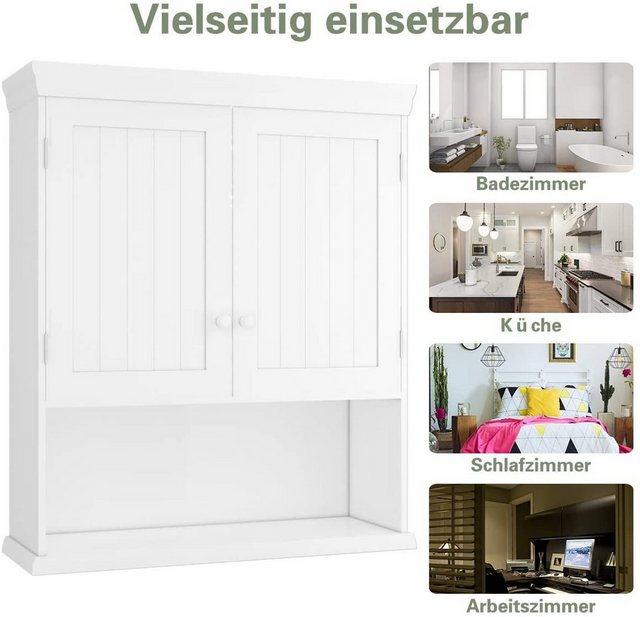 Badschränke - COSTWAY Hängeschrank »Badezimmerschrank« 2 türig, 60 x 20 x 70,5 cm  - Onlineshop OTTO