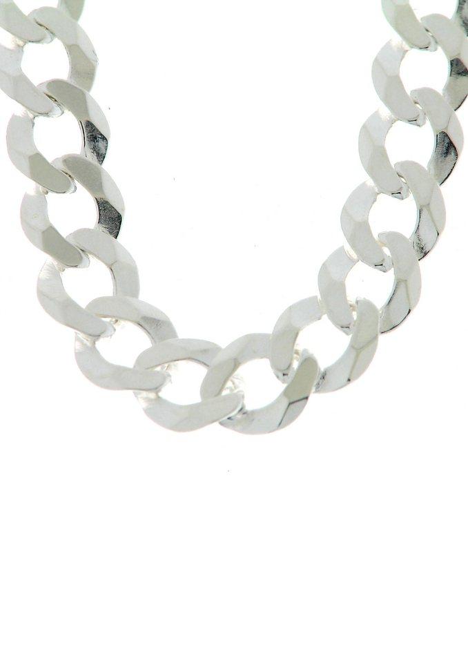 firetti Halsschmuck: Halskette in Panzerkettengliederung, 6-fach diamantiert in Silber 925