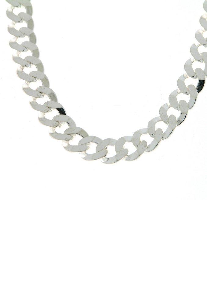 firetti Halsschmuck: Halskette in Panzerkettengliederung, 2-fach diamantiert in Silber 925