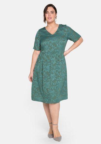 Sheego Kokteilinė suknelė su florales Ausbren...