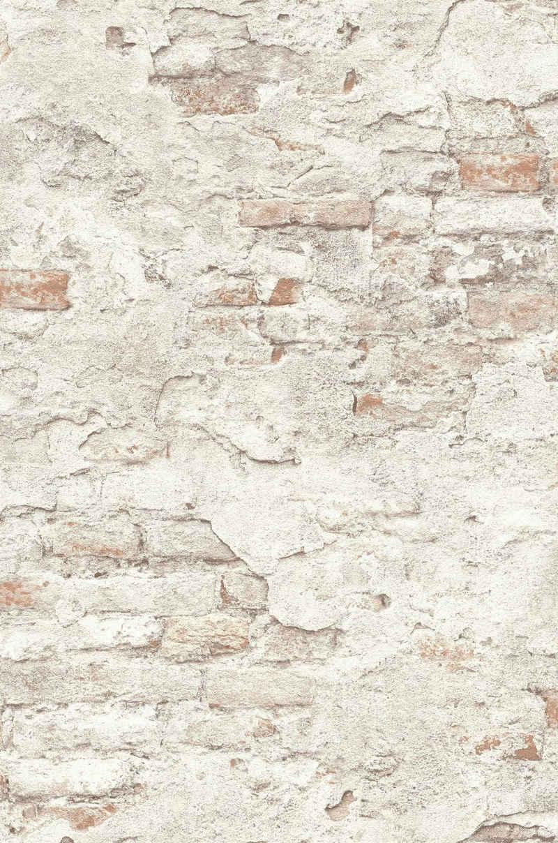 Rasch Vinyltapete »Factory III«, geprägt, gemustert, Steinoptik, (1 St)