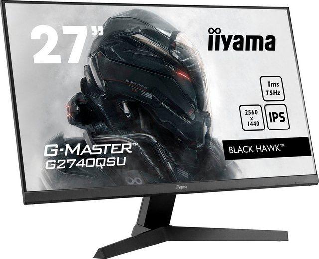 Iiyama G2740QSU-B1 LED-Monitor 68,6 cm 27 , 2560 x 1440 Pixel, WQHD, 1 ms Reaktionszeit, 75 Hz, IPS-LED