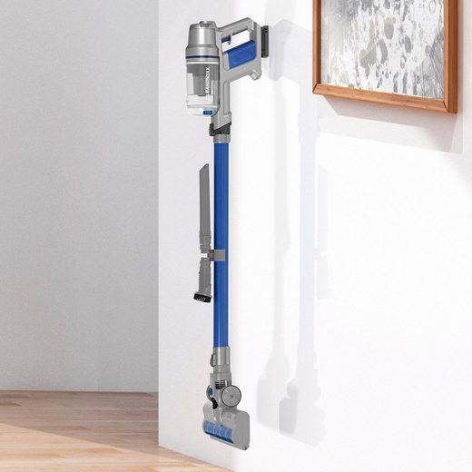 CLEANmaxx Zyklon Hybrid Staubsauger, Sensitive 22,2V blau/silber