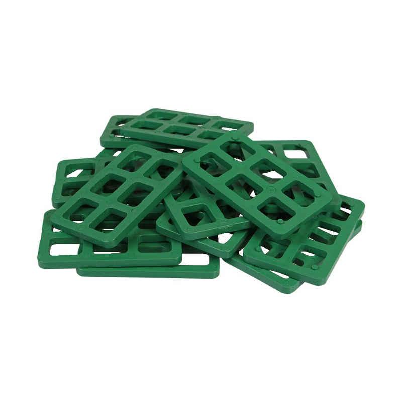 Inovatec Unterlegplatte »1000 x Inovatec Gitterklötze 80 x 50 x 5 mm grün Niveauausgleich Montage Lastabtrag«