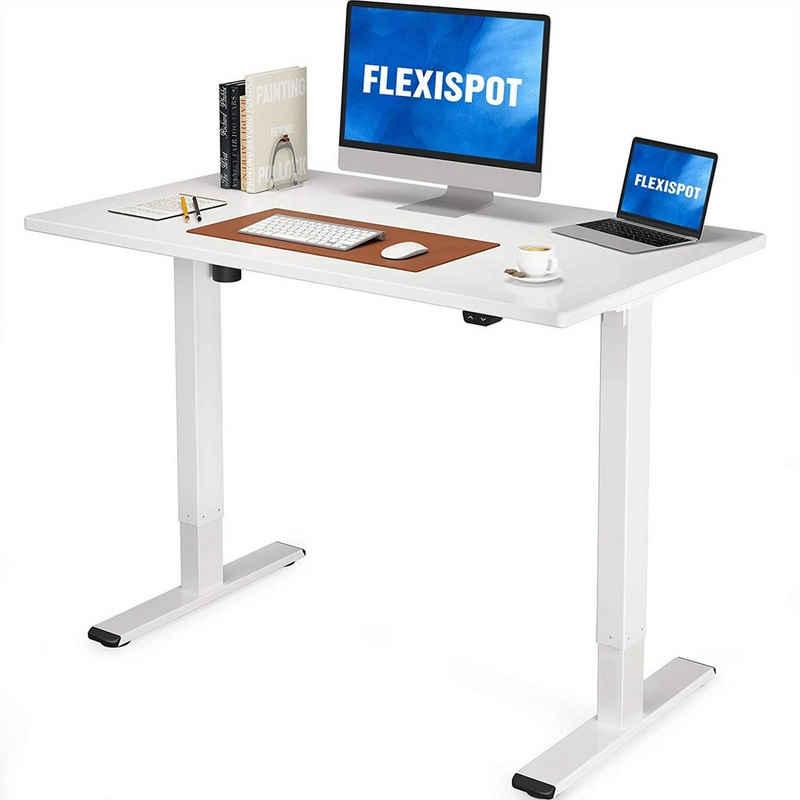 FLEXISPOT Schreibtisch »EG1-Series(EC1)«, Elektrisch höhenverstellbarer Schreibtisch, 2- Fach-Teleskop, inkl. Tischplatte, Farbe und Größe auswählbar