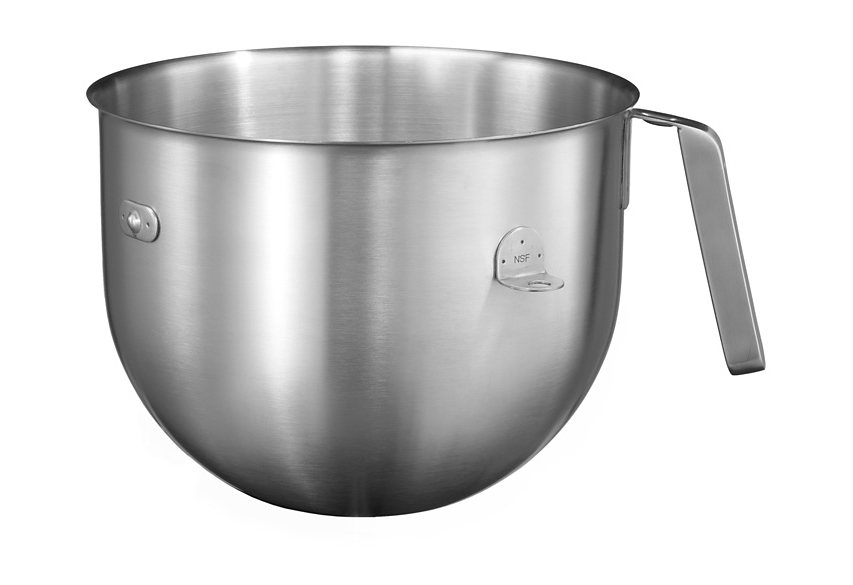 KitchenAid® Edelstahlschüssel 6,9l 5KC7SB: für alle Artisan-Küchenmaschinen mit Schüsselheber