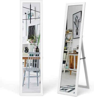 COSTWAY Ganzkörperspiegel »Ganzkörperspiegel Standspiegel Wandspiegel Ankleidespiegel Garderobenspiegel«, mit Holzrahmen