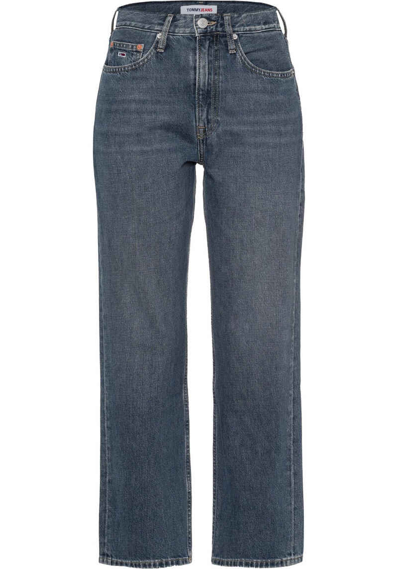 Tommy Jeans Straight-Jeans »HARPER HR STRGHT ANKLE CBGRR« mit Tommy Jeans Logo-Badge