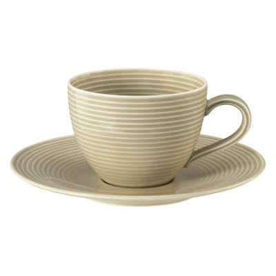 Seltmann Weiden Tasse »Kaffeetasse 2-tlg. mit Relief - Beat Sandbeige«
