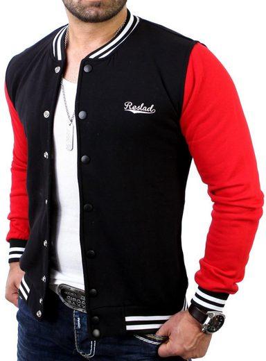 Reslad Collegejacke »Reslad Herren Jacke Authentic Collegejacke RS-1150« (1-St) College-Jacke mit Stick-Veredelung