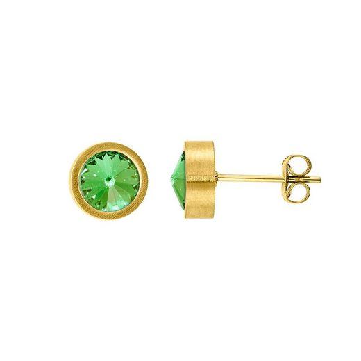 Heideman Paar Ohrhänger »Coma Gold«, mit Stein weiß oder Farbstein