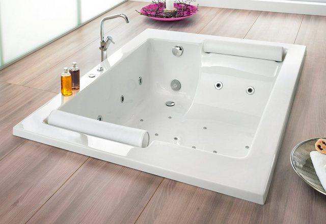 Badewannen und Whirlpools - OTTOFOND Whirlpool Badewanne »Maharaja«, (Komplett Set, 4 tlg), Typ 8 Exklusiv chrom und zwei Nackenrollen  - Onlineshop OTTO