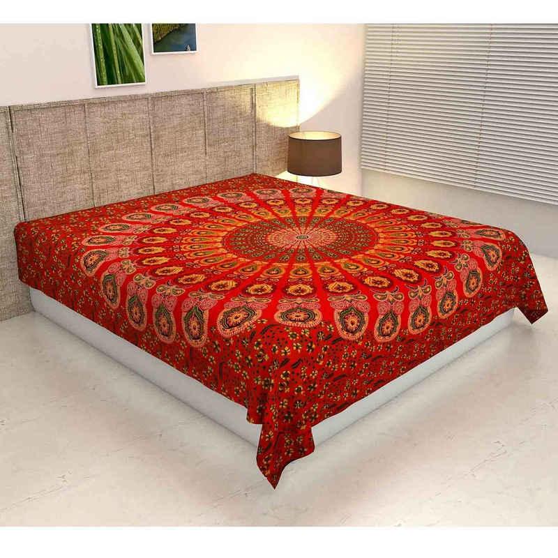 Bettüberwurf »Doppelbett Überwurf Mandala Amba 220x240 cm, Wanddekoration Tagesdecke dekorativer Wandteppich Boho-Stil, «, Casa Moro, MA6906