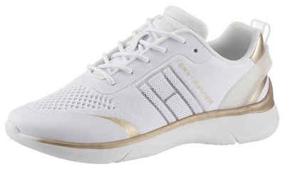 Tommy Hilfiger »KNITTED LIGHT SNEAKER« Keilsneaker mit Metallicdetails