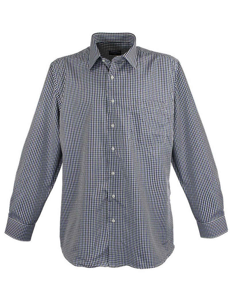 Lavecchia Langarmhemd »Übergrößen Herren Hemd HLA17« Herrenhemd im trendigen Karo-Look