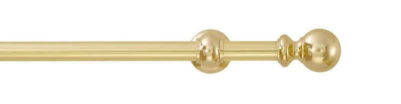 Gardinenstange »Andrea Kugel lang«, GARESA, Ø 20 mm, 2-läufig, Wunschmaßlänge, inkl. je10 cm einen Ring + FH, Träger, Endknöpfe