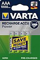 VARTA »VARTA RECHARGE ACCU Power vorgeladener AAA Micro NiMH Akku (4er Pack, 1000mAh) - Wiederaufladbar ohne Memory-Effekt - Ready to Use Technologie« Batterie, Bild 4