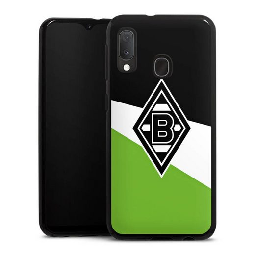 DeinDesign Handyhülle »Borussia Schwarz-Weiss-Grün« Samsung Galaxy A20e, Hülle Borussia Mönchengladbach Gladbach Offizielles Lizenzprodukt