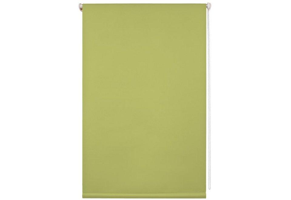 Klemmfix-Thermo-Rollo, Liedeco, im Festmaß, ohne Bohren, Verdunkelung/Energiesparend in apfelgrün